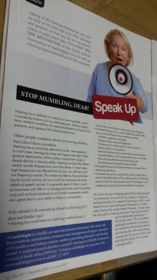 YVDW Audiologists-Yolandé in the Plus 50 Magazine