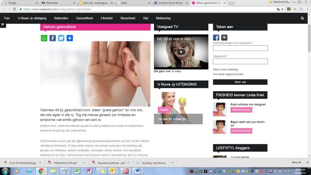 yolande van der westhuizen audiology in the press-finesse, hearing test