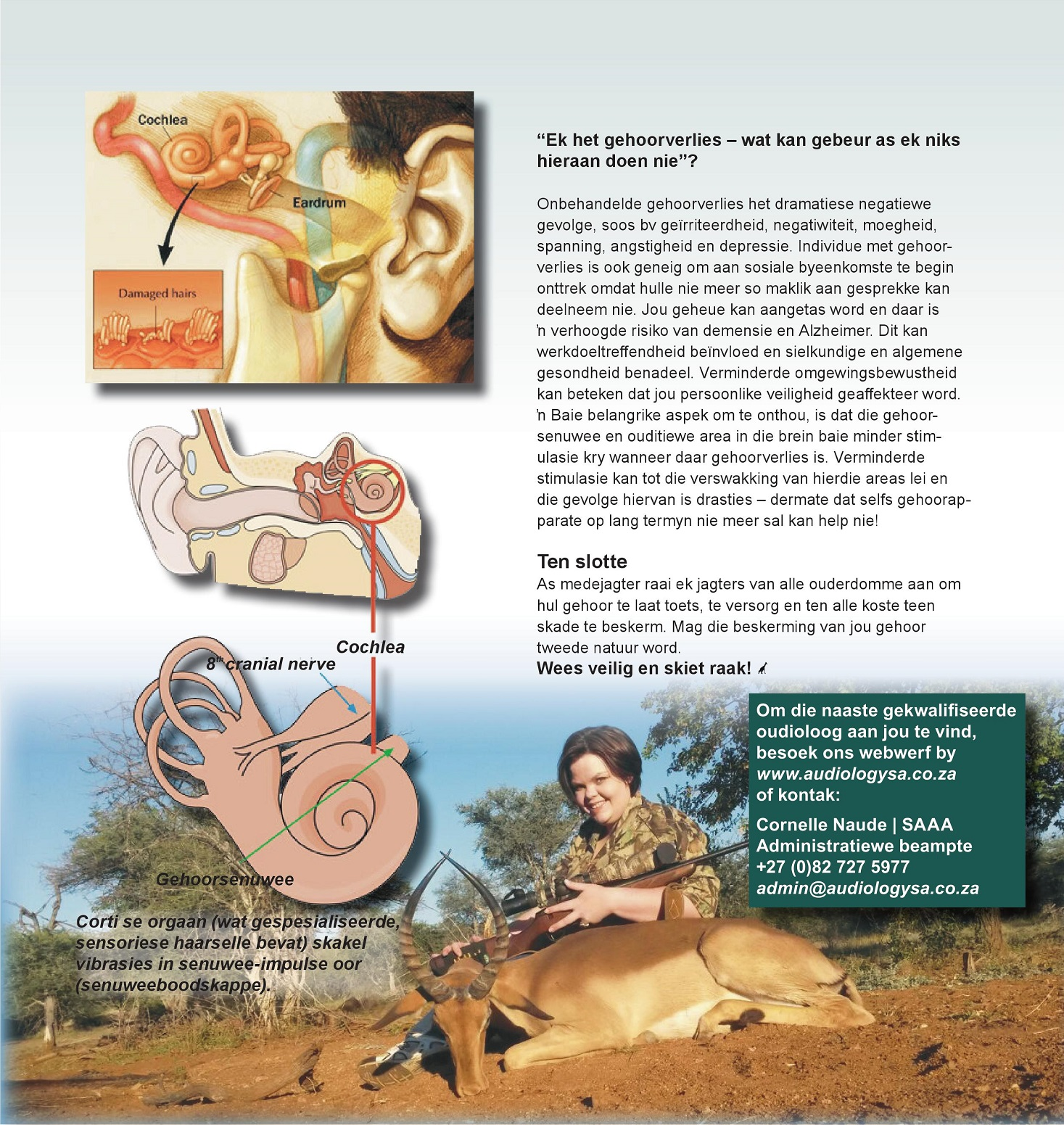 YVDW Audiology Wild en Jag Magazine Page 3, hearing test